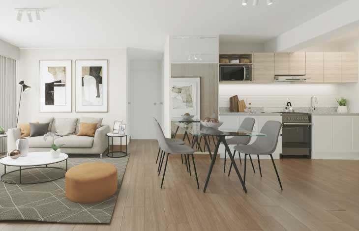 sala comedor cocina proyecto faisanes actual inmobiliaria