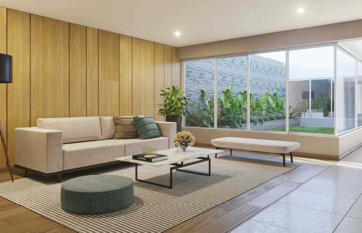 sala de estar edificio proyecto faisanes actual inmobiliaria