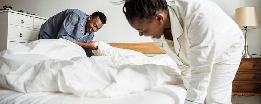 organiza dormitorio durante cuarentena