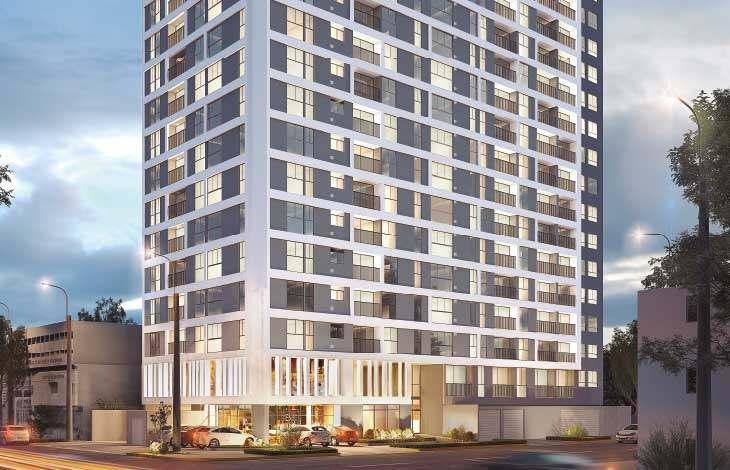 fachada edificio proyecto brasil actual inmobiliaria