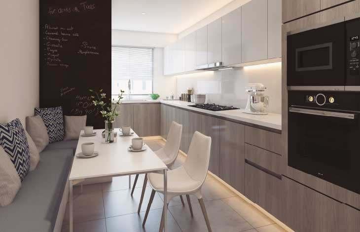 sala cocina proyecto lord cochrane actual inmobiliaria