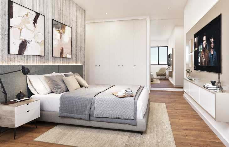 dormitorio principal proyecto berlin actual inmobiliaria