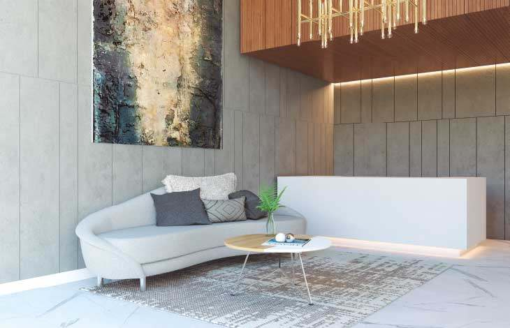 lobby proyecto lord cochrane actual inmobiliaria