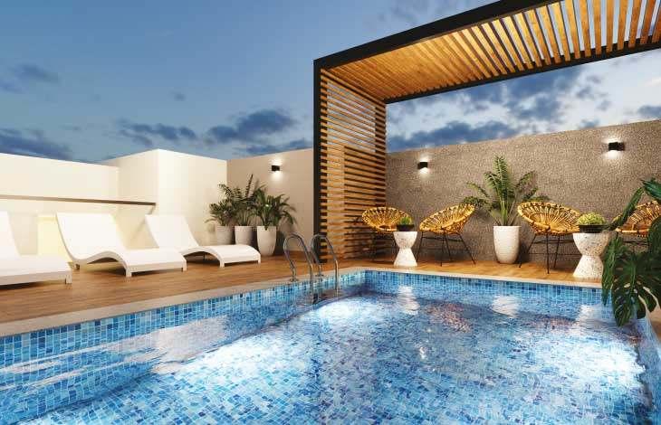 piscina terraza proyecto republica actual inmobiliaria
