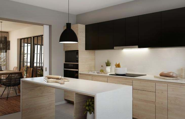 cocina proyecto piura actual inmobiliaria