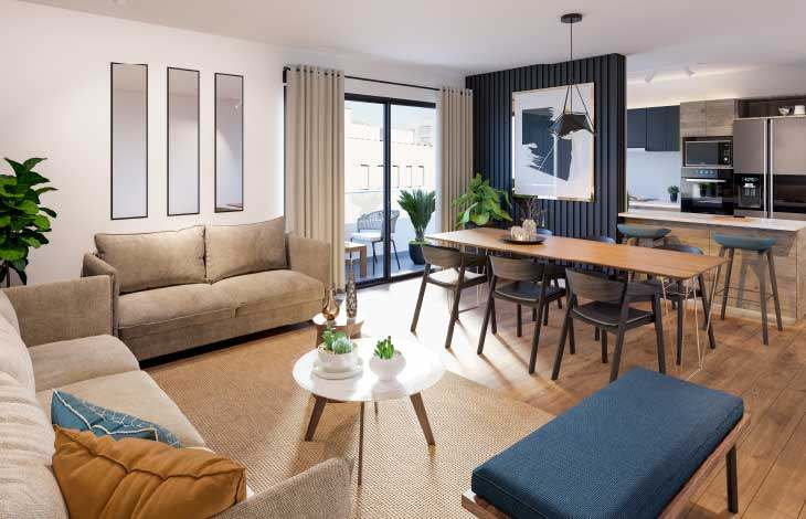 sala comedor proyecto berlin actual inmobiliaria