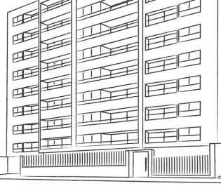 icono blanco y negro edificio pinos actual inmobiliaria