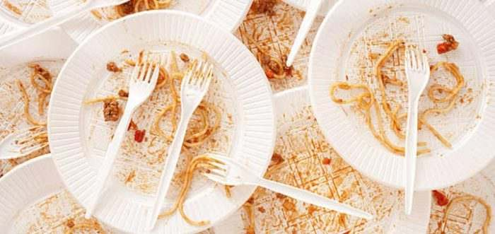 deja usar platos desechables