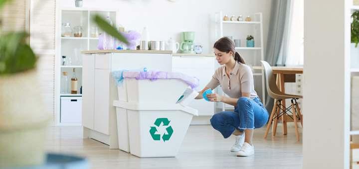 Cómo reciclar y reducir los desechos en el hogar